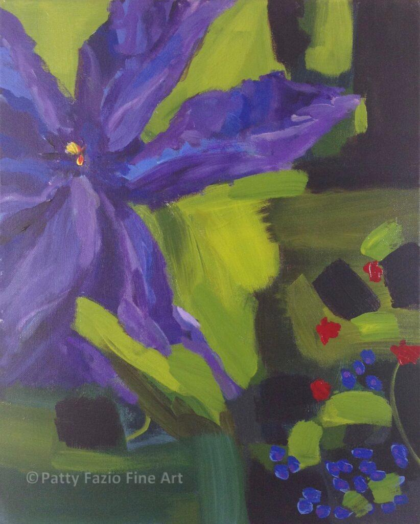 Clematis 1 | Acrylic on Stretched Canvas | 16x20